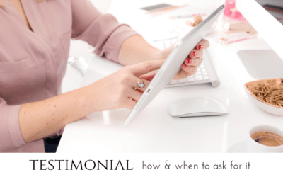 a testimonial – how and when to ask for it?